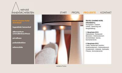 Designteam webdesign f r reinold innenarchitekten - Innenarchitektur bildergalerie ...